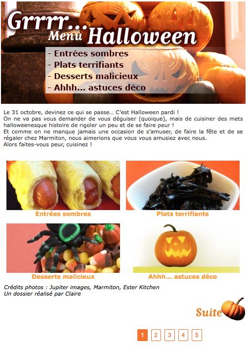 cliquez pour découvrir des menus halloween