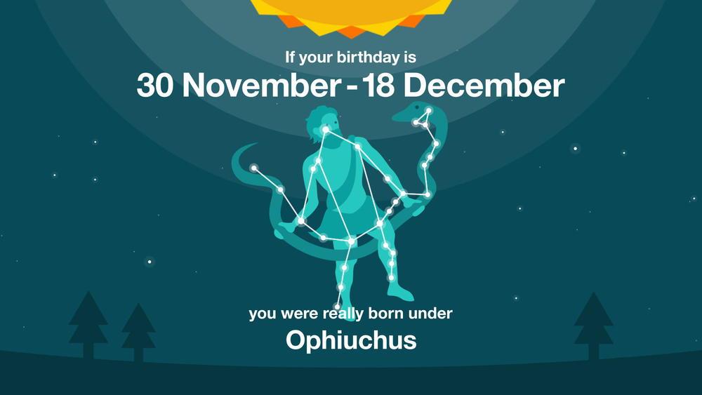 Ophiuchus oui serpentaire du 30 novembre au 18 décembre